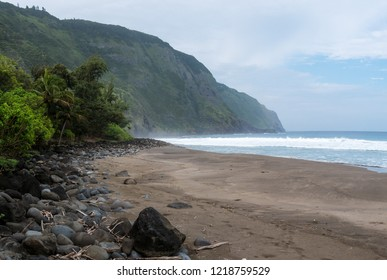 The beach front found at the leprosy colony on Molokai, Hawaii