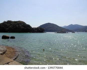 Beach in Fukue island (Goto islands) , Japan