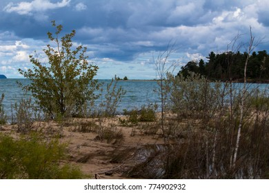 the beach at Grand Traverse Counties Maple Bay Nature Preserve on Lake Michigan.