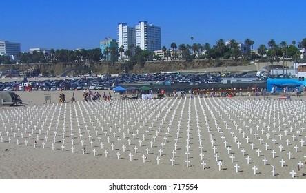 Beach Gravemarkers Display