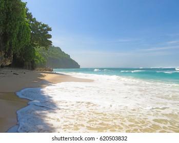 Beach Green Bowl on the island of Bali, Indonesia