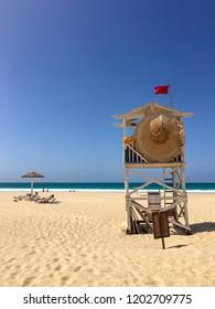 Beach guard at Praia de Chaves, Boa Vista, Cape Verde