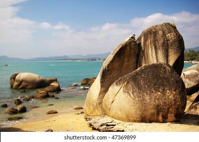 Beach in Hainan Island, China.