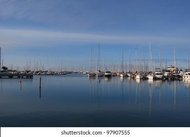 the beach, the harbor and the promenade of Pescara