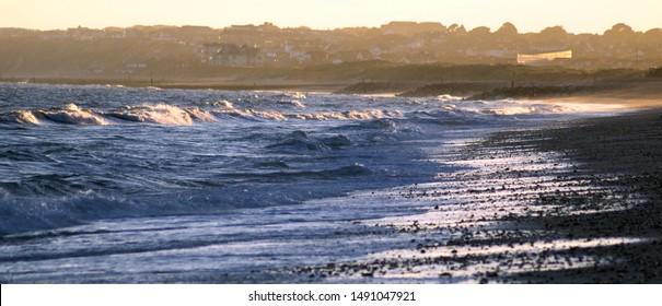 Beach at Hengistbury Head at evening