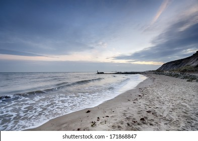 The beach at Hengistbury Head near Bournemouth in Dorset