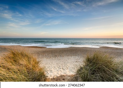 The beach at Hengistbury Head near christchurch in Dorset