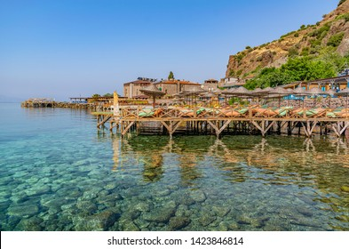 Beach at historical Assos town coast of Canakkale, Turkey.