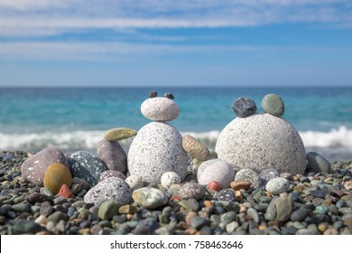 Beach holiday activity for children.