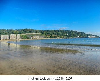 Beach in Hondarribia Village Euskadi Spain