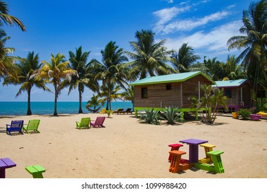 Beach in Hopkins, Belize, Central America