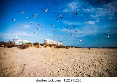beach, hotels and seagulls