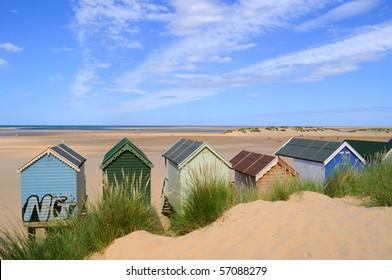 Beach house on the england beach