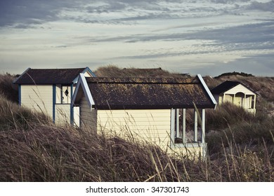 Beach houses in southern Sweden