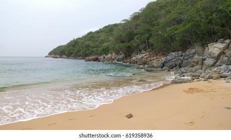 Beach at Huatulco National Park Oaxaca, Mexico July 2016