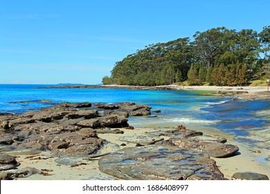 Beach in Huskisson, Jervis Bay, Australia