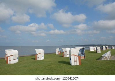 Beach of Husum at North Sea,Schleswig-Holstein,Germany