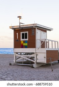 Beach hut located at Hollywood beach Florida.