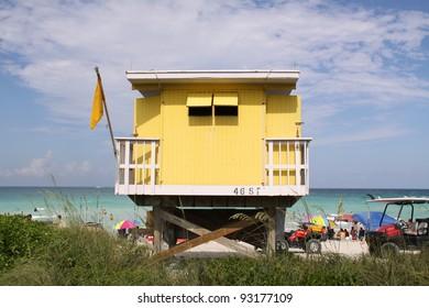 beach hut in Miami Beach