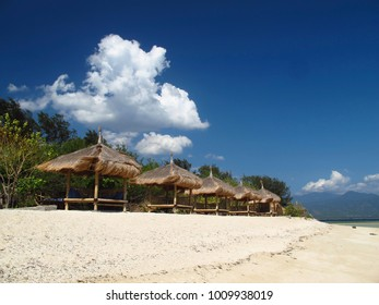 beach hut on Gilli Island indonesia