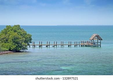 beach hut on the reef