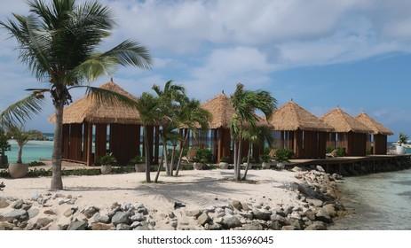 beach huts in Aruba