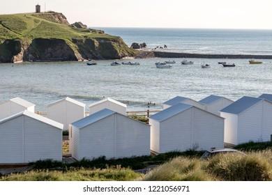 Beach huts in Bude, Cornwall