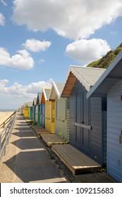 Beach huts at Cromer, North Norfolk