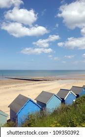 Beach huts at Cromer on North Norfolk coast