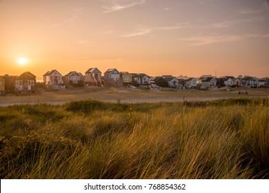 The beach huts at Mudeford in Dorset.
