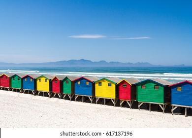 Beach Huts at Muizenberg Beach
