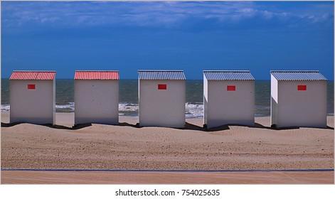 Beach huts in Nieuwpoort (Flanders