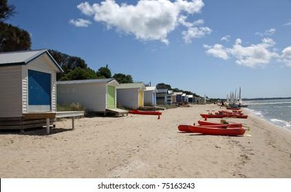 Beach Huts at Rye, near Melbourne, Australia