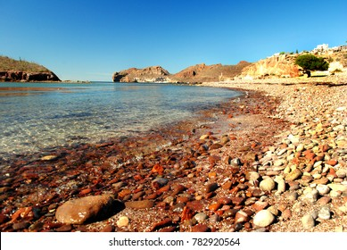 Beach and island in Guaymas, Sonora, Mexico