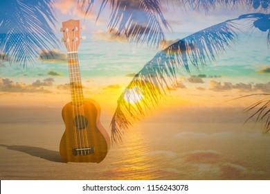 Beach island music life concept.