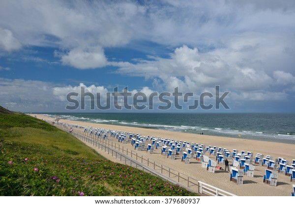 Beach Island Sylt North Sea Germany Royalty Free Stock Image