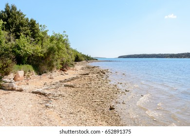 Beach in Istria near Medulin, Croatia