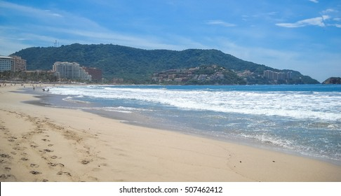 Beach in Ixtapa. Pacific ocean. Mexico