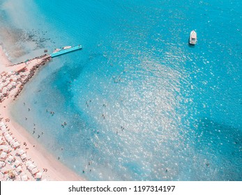 A beach in Izmir. Dalyan Bay of Cesme. Beach Club doesn't stop having fun. Turkey is going very lively in the summer months.