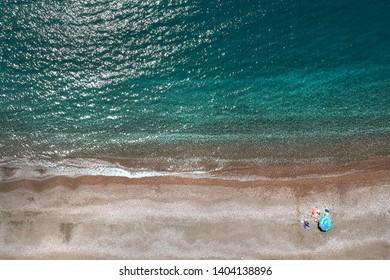 Beach at Iztuzu , Ege Sea, Dalyan, Turkey - View