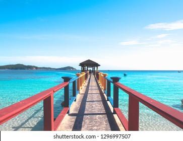 Beach and Jetty - Perhantian Islands, Malaysia