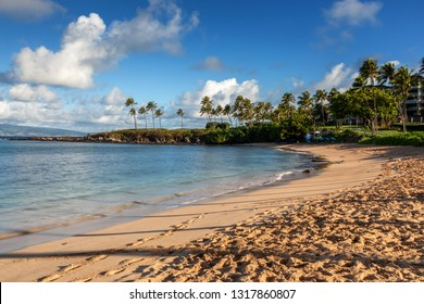 Beach at Kapalua Bay in the morning light, Maui, Hawaii, United States