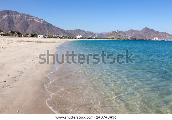 Beach in Khor Fakkan, Fujairah, United Arab Emirates