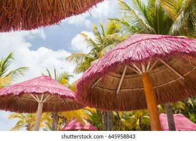 Beach Kiosks at a carribbean beach