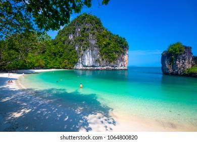 Beach of koh hong island andaman sea in Krabi, Thailand.
