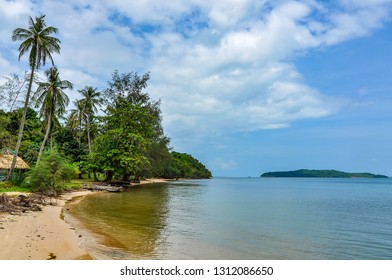 Beach in Koh Ta Kiev Island near Sihanoukville, Cambodia