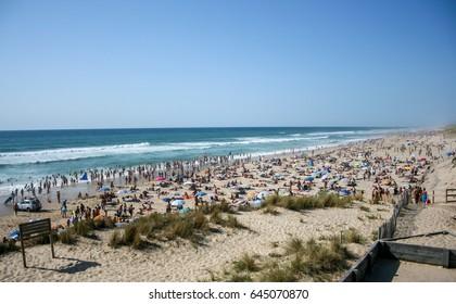 Beach lacanau-ocean