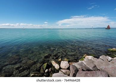 beach of lake Balaton near Siofok in Hungary