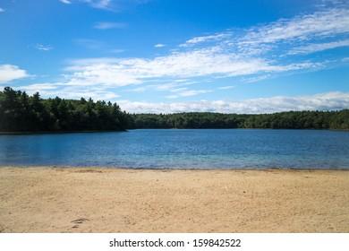 Beach and Lake, Walden Pond