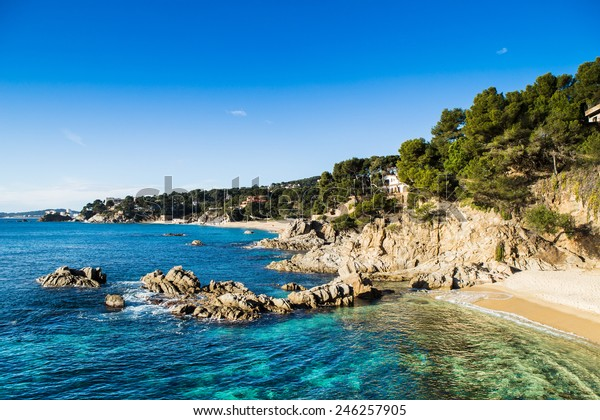 Beach Landscape Calonge Costa Brava Spain Stock Photo Edit Now 246257905